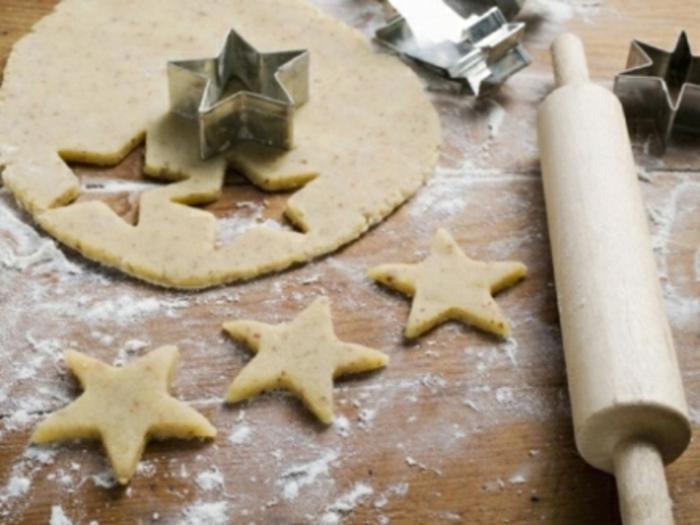 weihnachts kekse-in-stern-form