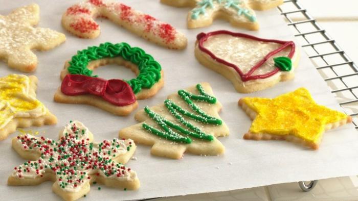 weihnachts kekse-krem-käse