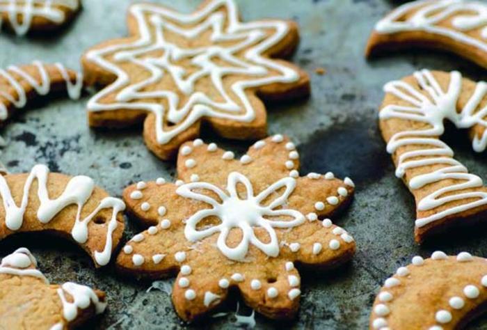weihnachts kekse-schnee-und-stern-ideen