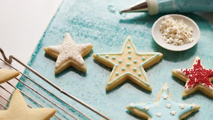 weihnachts kekse-stern-form