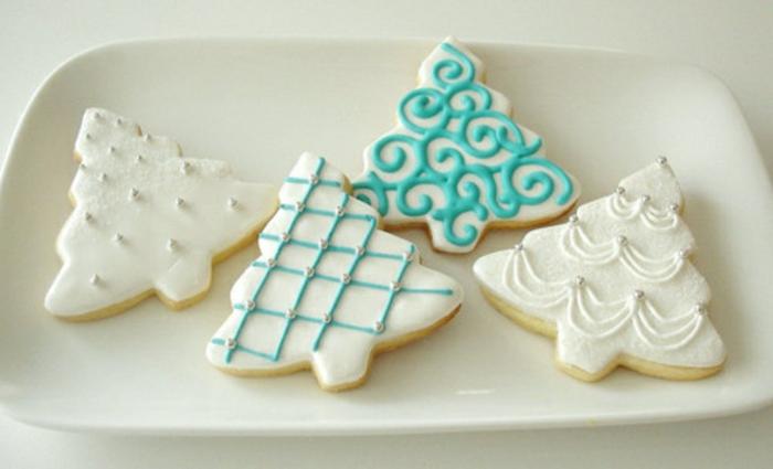 weihnachts kekse-weiß-und-himmelblau
