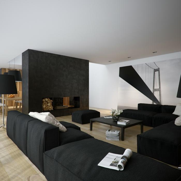 wohnfarbe-schwarz-weiß-wohnzimmer-wohnraumgestaltung