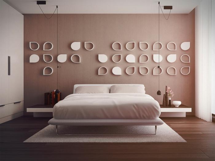 Wohnung Deko Elegantes Schlafzimmer Mit Einem Bequemen Bett