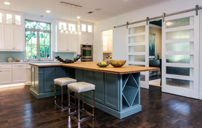 wohnung-einrichten-ideen-landhausstil-küche