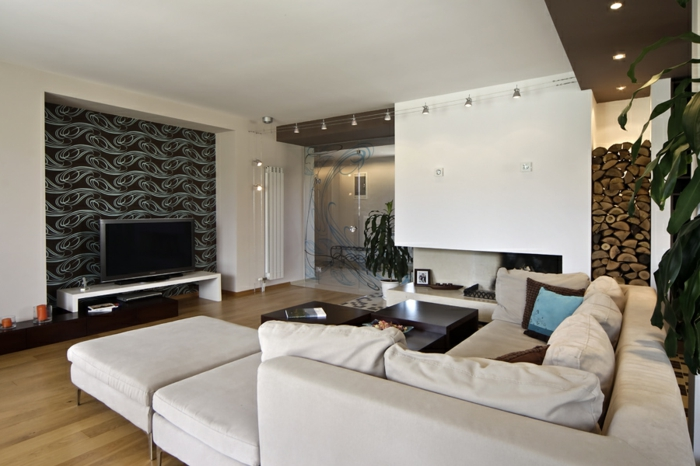 Wohnzimmer gestaltungsideen super schönes weißes sofa