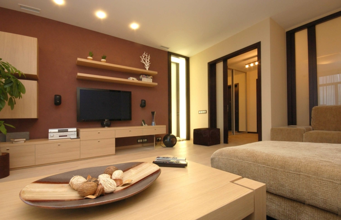 idee wohnzimmer natur - Moderne Wohnzimmer Farben
