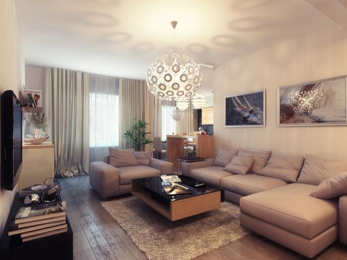 wohnzimmer-style-moderne-bilder-über-dem-sofa