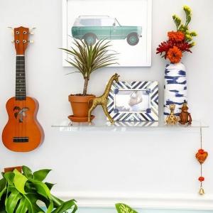 Die Akustik Gitarre als Teil des Interieurs