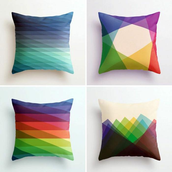 wunderschöne-Kissenbezüge-grelle-Farben-geometrische-Figuren
