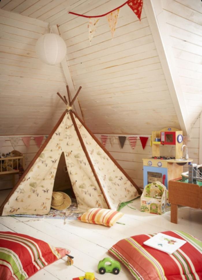 wunderschönes-Kinderzimmer-viele-Spielzeuge-Zelt-Akzent