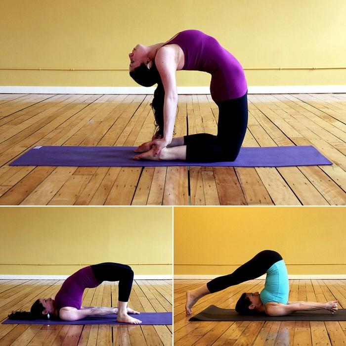 yoga-übungen-drei-wunderschöne-fotos