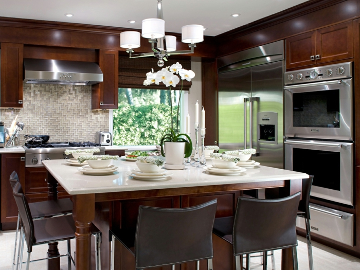zimmer-einrichten-ideen-landhauseinrichtung-ideen-küche-esszimmer