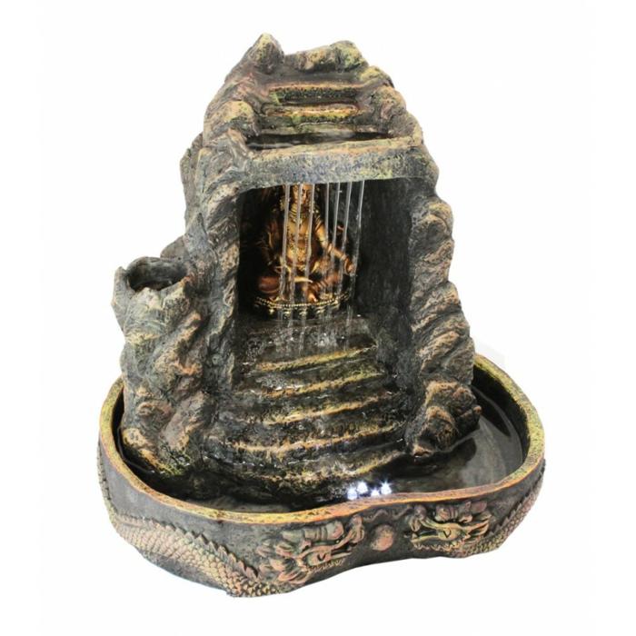 zimmerbrunnen mit buddha bringen sie w rme ins haus. Black Bedroom Furniture Sets. Home Design Ideas