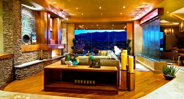 ... Zimmergestaltung Zimmerbrunnen Mit Wasserfall 45 Tolle Designs For 3d  Zimmergestaltung ...