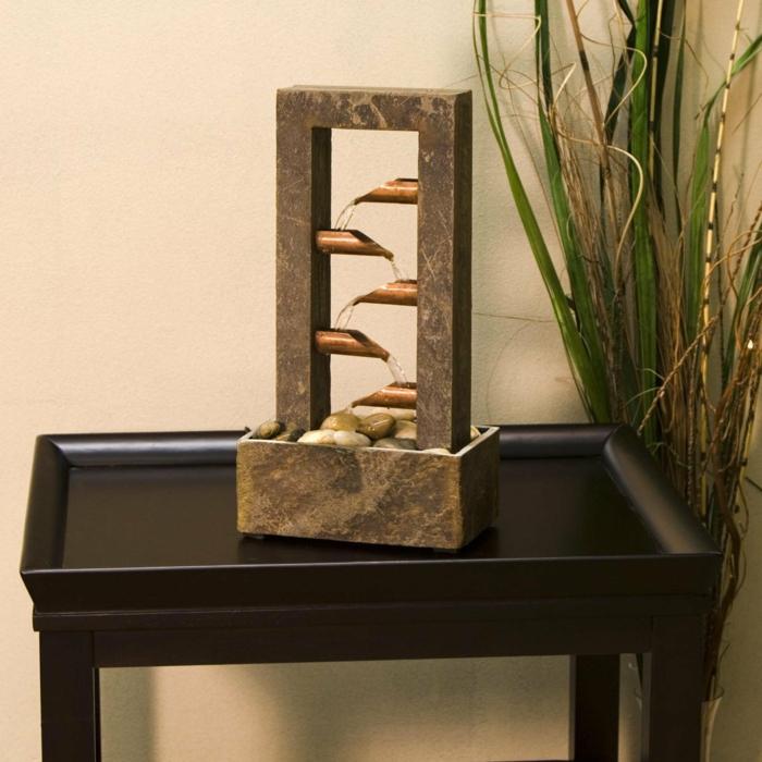 zimmerbrunnen mit wasserfall 45 tolle designs. Black Bedroom Furniture Sets. Home Design Ideas