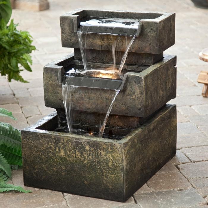zimmerbrunnen mit wasserfall: 45 tolle designs! - archzine, Garten und bauen