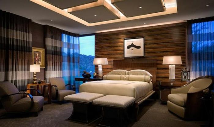 zimmerdecken-neu-gestalten-gemütliches-und-modern-wirkendes-schlafzimmer