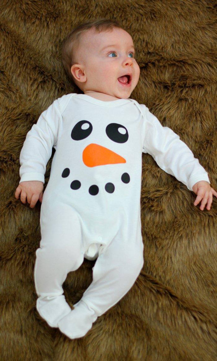 Baby-Schlafanzug-Schneemann-Muster-einteiliger-schlafanzug