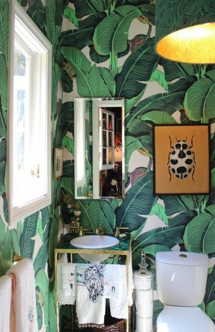 Badezimmer-naturales-tapeten-design-große-grüne-Blätter