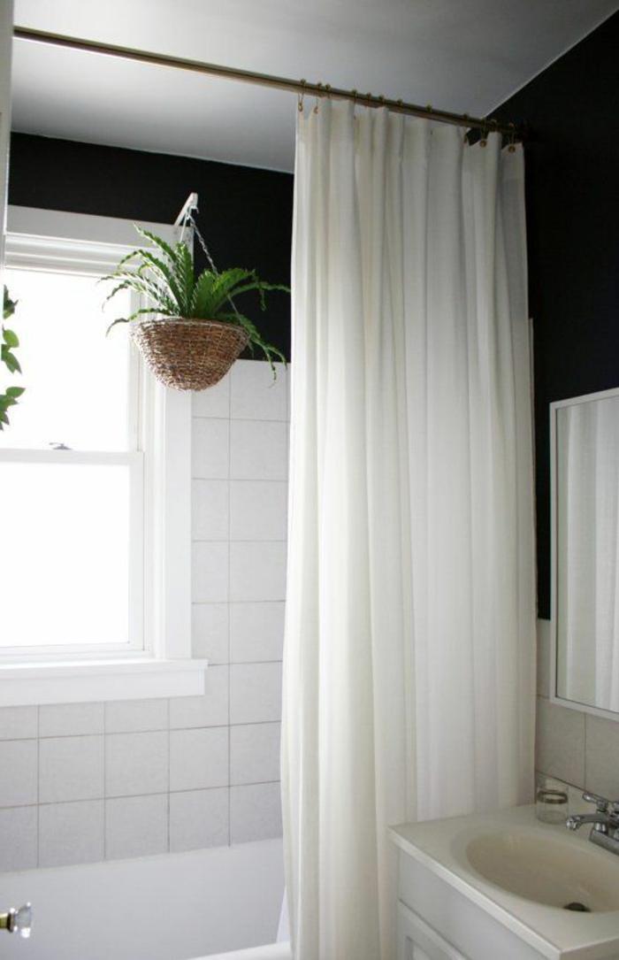 Badezimmer vorhänge ideen weiß modern