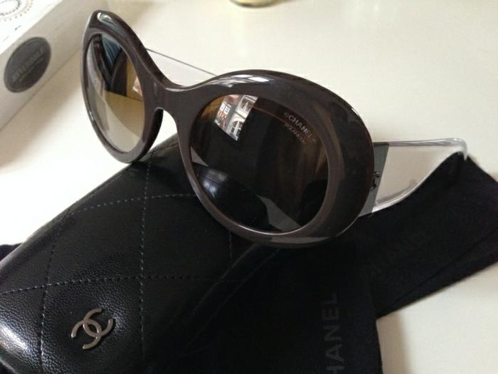 Chanel-Sonnenbrille-metalloptik-elegant-braun