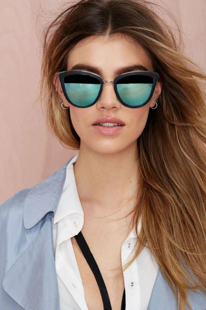 Chanel-Sonnenbrille-rechteckig-gläsern