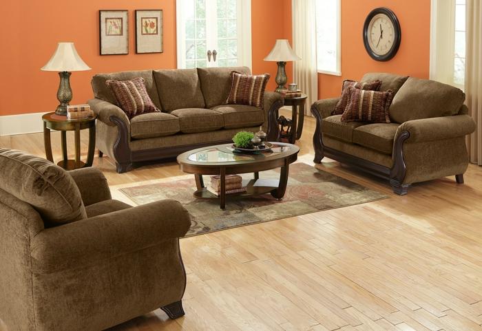 Couchtisch-oval-holz-glas-polste-retro-garnitur-wohnzimmer
