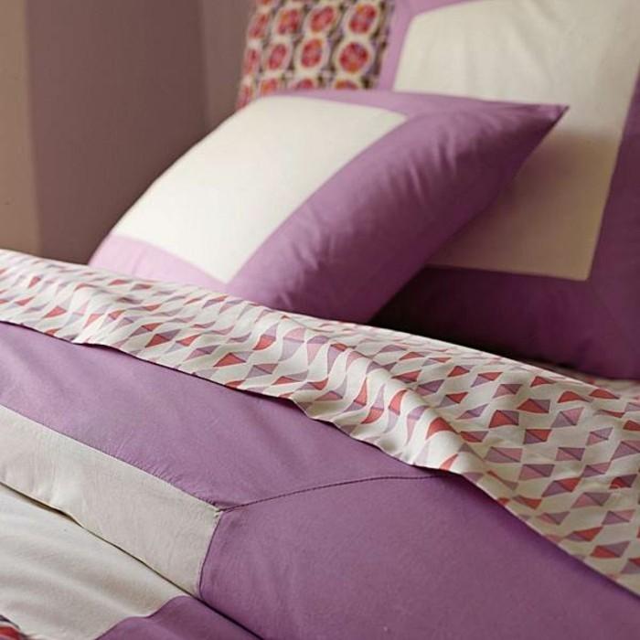 Elegante-Bettwäsche-rosa-weiß-farben
