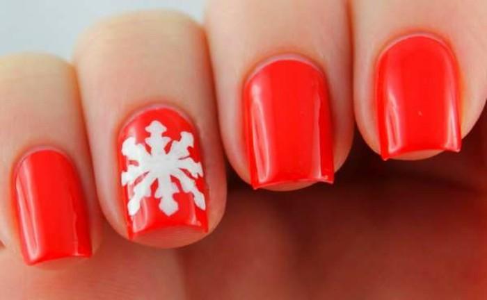 Gelnägel-weihnachten-grell-rot-leicht