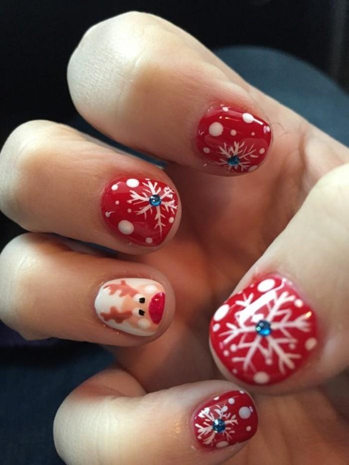 Gelnägel-weihnachten-rot-weiss-farben