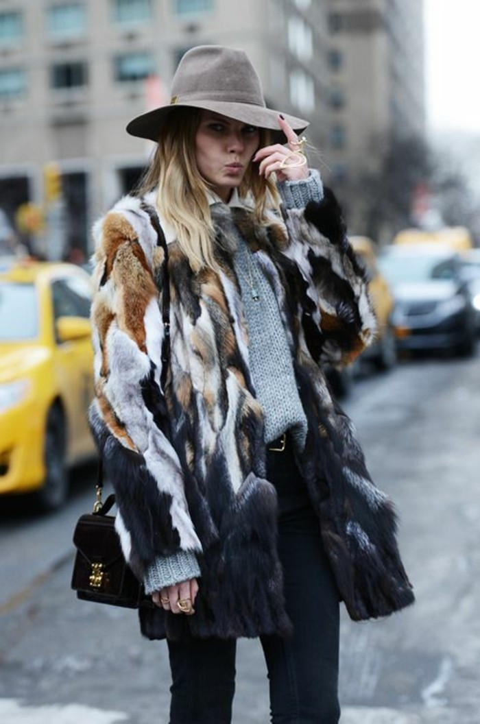 Hut-filzen-modern-farbe-graue-modelle-damen