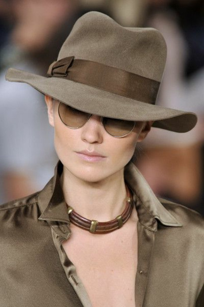 Hut-filzen-satine-schleife-sonnenbrille-damenmode