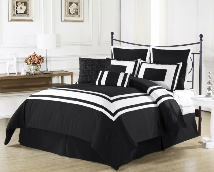 Moderne-Bettwäsche-schwarz-weiß