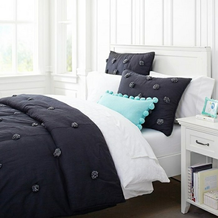 Moderne-Bettwäsche-weißes-schlafzimmer