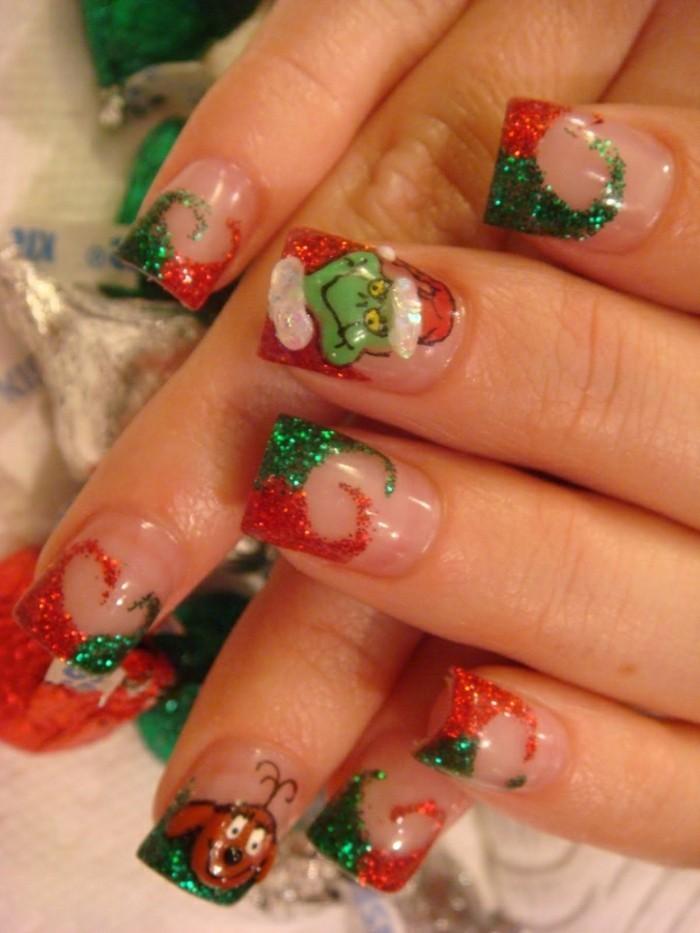 Nageldesign-bilder-dekorative-ideen-für-weihnachten
