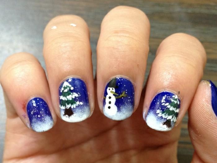 Nageldesign-galerie-weihnachten-blau-baum-und-schnee