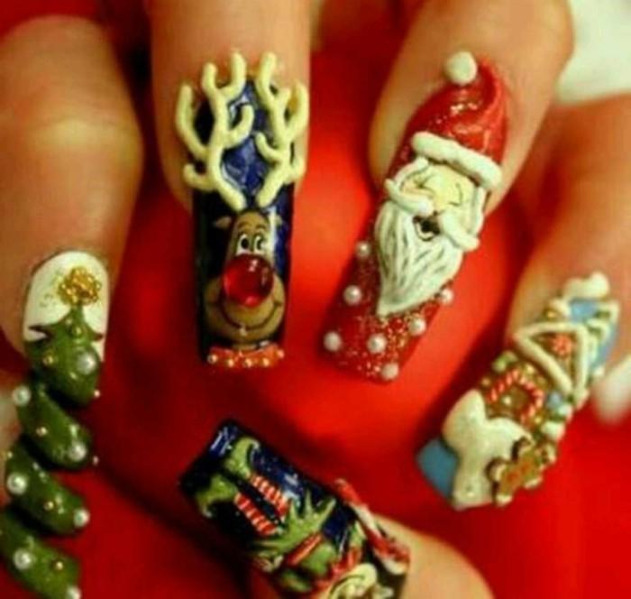 Nageldesign-galerie-weihnachten-motive-santa-tannenbaum