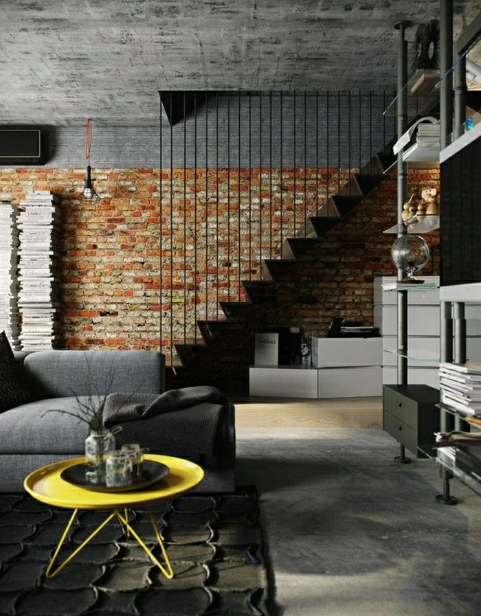 Ovale-Couchtische-gelb-modern-wohnzimmer-gestaltung
