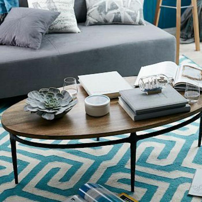 Ovale-Couchtische-holz-blau-teppich