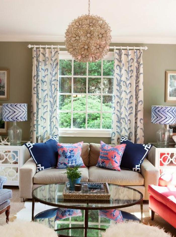 Ovale-Couchtische-im-wohnzimmer-glas-tischplatte