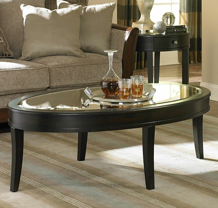 couchtisch oval 40 coole fotos. Black Bedroom Furniture Sets. Home Design Ideas