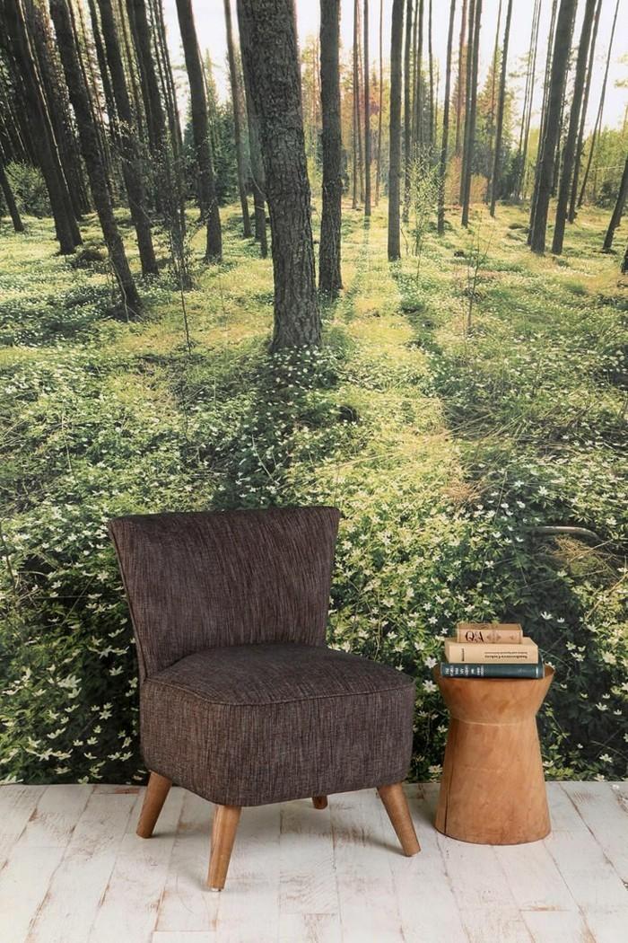 Sessel-Textil-schöne-tapeten-Wald-Natur-Bild