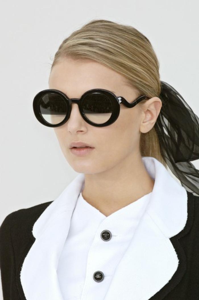 Sonnenbrille-Chanel-oval-schwarz