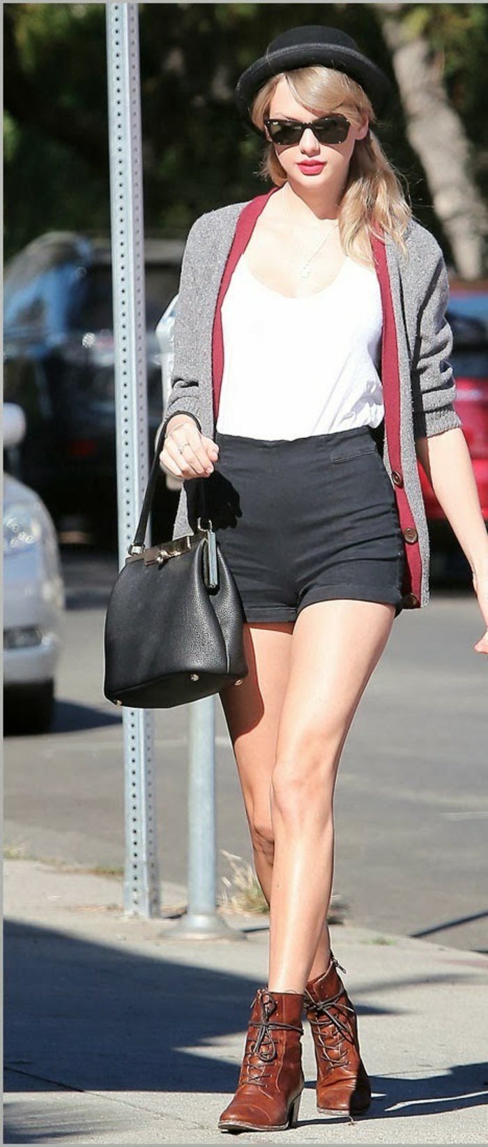 Taylor-Swift-strickjacke-grau-Hut-kreative-Styling-Idee