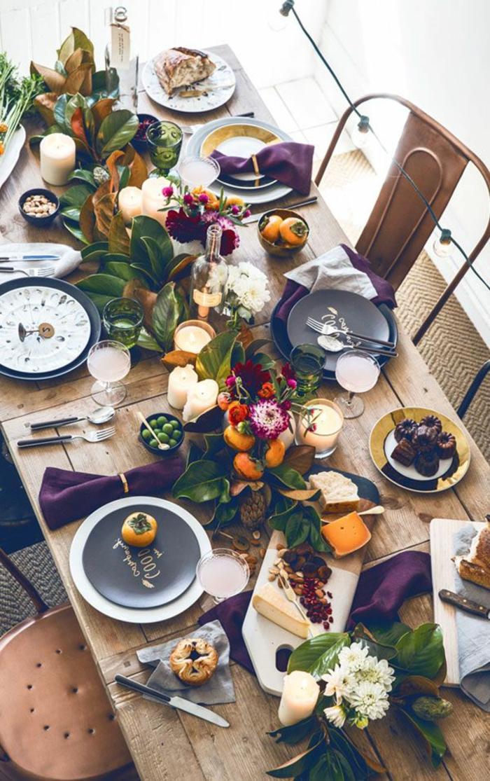 Tischdekoration-Ideen-blumen-tischdeko-wunderschöne-Gestaltung