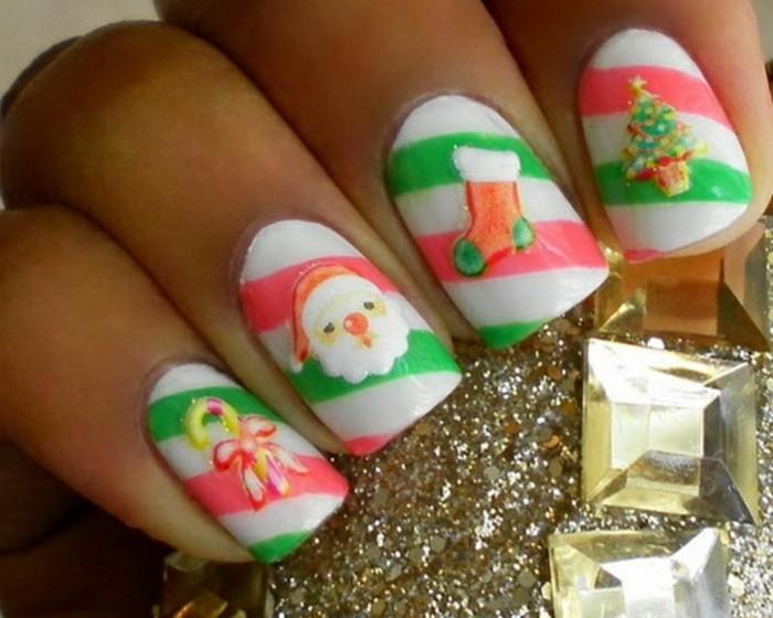 Weihnachts-nageldesign-drei-farben-und-motiven