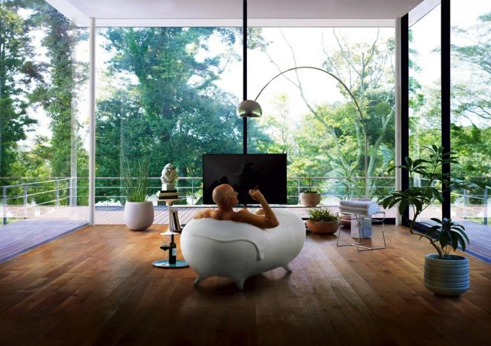 badezimmer-gestalten-gläserne-wände-wunderschönes-modell