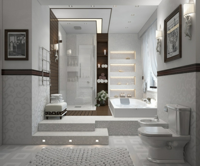110 moderne bäder zum erstaunen! - archzine.net - Badezimmer Gestalten