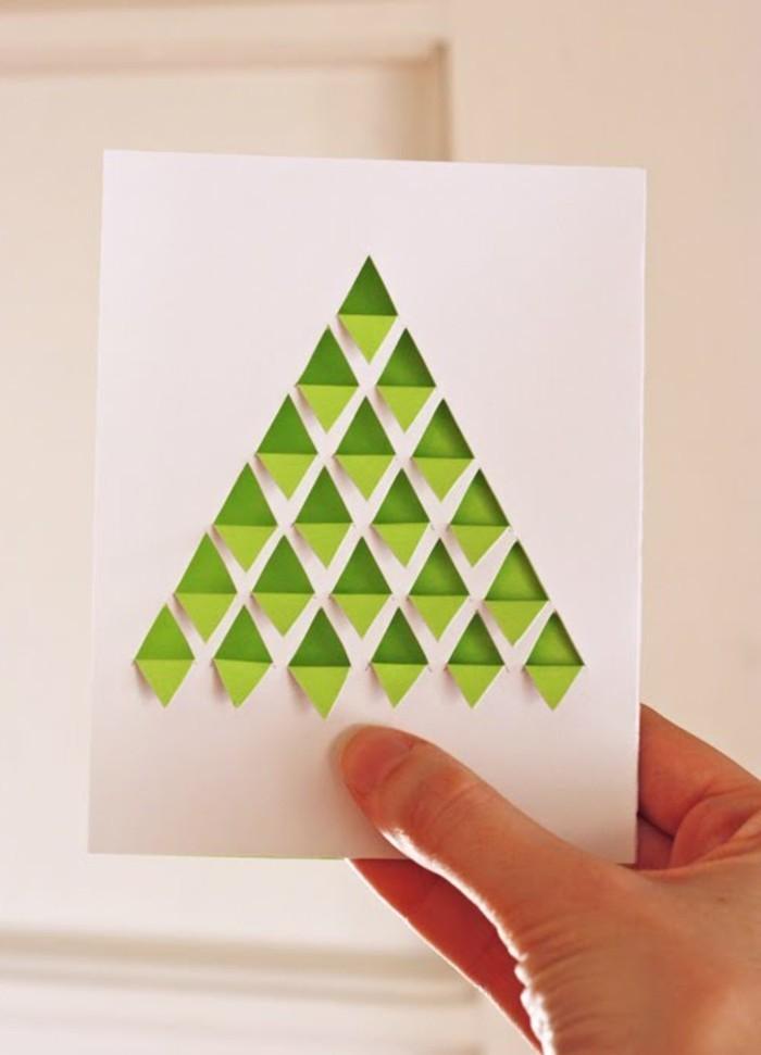 bastelideen-für-weihnachten-tannenbaum-weihnachtskarte
