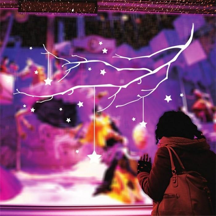 bastelideen-weihnachten-sehr-schöne-deko-mit-diy-sternen